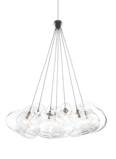 Cheer with single fused globe includes one low-voltage, 10 watt xenon bi-pin lamp. Cheers with seven clear glass globes with fused center tubes suspended from one central hub. Cheers includes seven low-voltage, 10 watt xenon bi-pin lamps. Each include six feet of field-cuttable suspension cable.