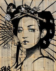 "Saatchi Art Artist Loui Jover; Drawing, ""lotus"" #art"