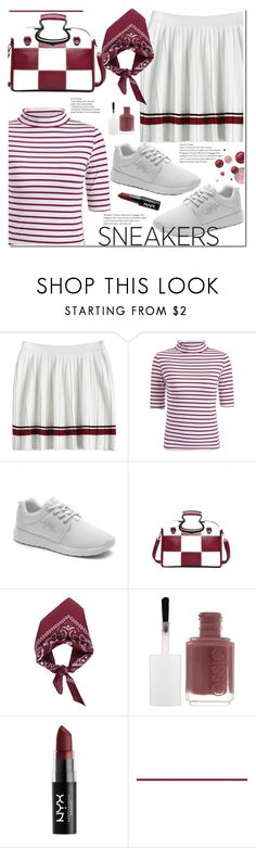 """So Fresh: White Sneakers"" by duma-duma ❤ liked on Polyvore featuring Essie, NYX and whitesneakers"