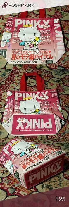 New Tenshi Neko Lunch Bag Tote Purse New Tenshi Neko Lunch Bag Tote Purse Tenshi Neko Bags