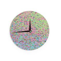 """Empire Ruhl """"Spring Puddle Abstract"""" Pastel Digital Wall Clock"""