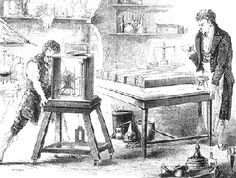Sir Humphry Davy in his laboratory.