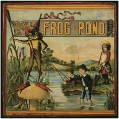 Antiques, Oddities and Vintage / Game of Frog Pond  1890 H. Bliss Mfg. Co.