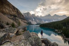 Moraine lake with my friend Sarah in a summer Canadian trip! http://500px.com/photo/51474506