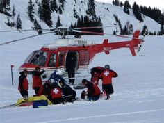 Three of the fired patrollers working on a rescue.