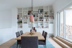 design › Gesamtkonzept MG Küchen Design, Interior Design, Fitted Kitchens, Projects To Try, Dining Room, Shelves, Furniture, Home Decor, Interior Design Kitchen
