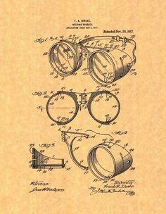 Welding Goggles Patent Print Art Poster (18' x 24')