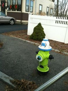 monsters Inc fire hydrant -Can you paint the one outside your door like this? hahaha