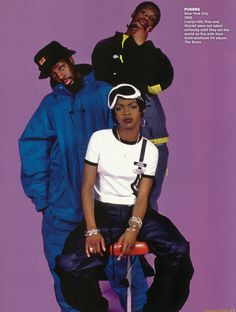This is hip-hop group 'Fugees'. Consisting of three members, the only female in the group is rapper and singer Lauryn Hill. Hill is a highly successful musician who has won eight Grammys, and she is the only female artist to win to album of the year G Look Hip Hop, Hip Hop And R&b, Hip Hop Rap, New School Hip Hop, Old School, Hip Hop Graffiti, Estilo Chola, Baile Hip Hop, Wyclef Jean