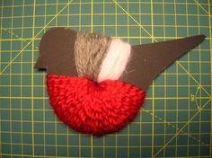 Tina& handicraft : how to make a pom - pom birds Craft Stick Crafts, Crafts To Do, Arts And Crafts, Easter Crafts For Kids, Diy For Kids, Kids Christmas, Christmas Crafts, Ribbon Design, Felt Ball