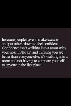 Insecure people.  Find out who you are and be ok with it..