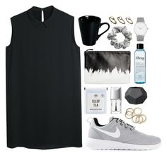 """""""Untitled #1731"""" by katerina-rampota ❤ liked on Polyvore featuring mode, NIKE, MANGO, Monki, philosophy, Christian Dior, Larsson & Jennings, H&M, Pieces en women's clothing"""