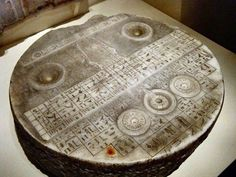 Egyptian offering table, but on closer inspection it's machined to perfection with hieroglyphs and other information; and yet no electro-magnetic test-scans have been done ca. Ancient Aliens, Ancient Art, Ancient Egypt, Ancient History, Out Of Place Artifacts, Alien Artifacts, Historia Universal, Archaeological Finds, Mystery Of History
