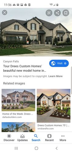 Image House, Model Homes, New Model, Custom Homes, Brick, Exterior, Tours, Mansions, House Styles