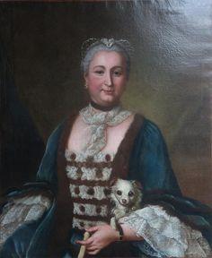 Madame du Deffand (1697-1780) - épistolière et salonnière française.À la mort de son mari, elle s'installa dans les appartements jadis occupés par Madame de Montespan, rue Saint-Dominique à Paris, dans l'ancien couvent des Filles de Saint-Joseph où, à partir de 1749, elle ouvrit son célèbre salon « tapissé de moire bouton d'or ».  Ses soupers du lundi attiraient toute l'élite intellectuelle. Son intelligence et ses dons de conversation paraissent avoir exercé une véritable fascination.