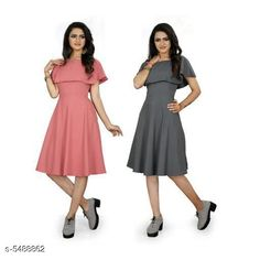 Dresses Women's Solid Grey Crepe Dress Fabric: Crepe Sleeve Length: Short Sleeves Pattern: Solid Multipack: 2 Sizes: S (Bust Size: 36 in Length Size: 44 in)  XL (Bust Size: 42 in Length Size: 44 in)  L (Bust Size: 40 in Length Size: 44 in)  M (Bust Size: 38 in Length Size: 44 in)  XXL (Bust Size: 44 in Length Size: 44 in) Country of Origin: India Sizes Available: S, M, L, XL, XXL *Proof of Safe Delivery! Click to know on Safety Standards of Delivery Partners- https://ltl.sh/y_nZrAV3  Catalog Rating: ★3.9 (455)  Catalog Name: ☄️Urbane Graceful Women Dresses CatalogID_818971 C79-SC1025 Code: 646-5488862-