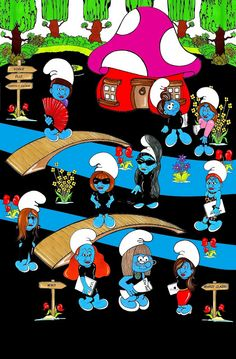 Humor Chic: Humor Chic Exclusive - The Fashion Smurfs SMURFASHION by aleXsandro Palombo