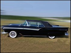 1957 Ford Fairlane 500   													  													312/245 HP, Automatic