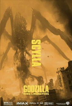 Scylla in Godzilla King of the Monsters - ZaiD Walter Scylla in Godzilla King of the Monsters Source Kaiju Size Chart, Original Godzilla, King Kong Vs Godzilla, Godzilla Franchise, All Godzilla Monsters, Strange Beasts, Fox Illustration, Illustrations, Arte Dc Comics