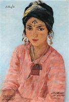 Portrait d'Aïcha von Alexandre Roubtzoff