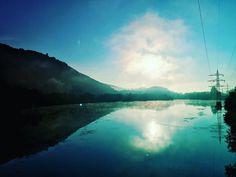#goodmorning #gutenmorgen #hagen #hengsteysee #sunrise #fog #nebel #colorfull #beautiful #romantic #germany #lake #brigde #landscape #iphone #nature