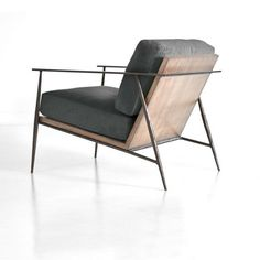Emmitt Lounge Chair With a metal frame hand forged by blacksmiths in a tradition passed down through generations of NC craftsmen, Emmitt blends modern lines and historic lineage. Steel Furniture, Unique Furniture, Cheap Furniture, Discount Furniture, Industrial Furniture, Furniture Design, Furniture Stores, Luxury Furniture, Furniture Buyers