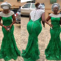 Latest Designed Aso Ebi Styles 2016 For Ladies. I've checked for some of the latest aso ebi styles designed in 2016 to satisfy your desire. African Lace Styles, African Lace Dresses, African Fashion Dresses, African Clothes, Ankara Fashion, Ghanaian Fashion, Women's Fashion, African Style, Fashion Styles
