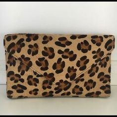 Streets Ahead Bags | Nwot Streets Ahead Leopard Print Clutch | Poshmark Leopard Clutch, Sunglasses Case, Polka Dots, Outfit, Leather, Bags, Things To Sell, Outfits, Handbags