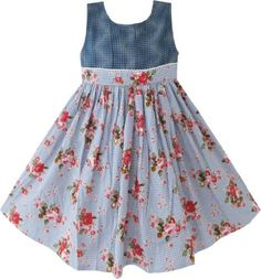 CF24 Girls Dress Jeans Style Floral Boutique Children Clothing Size 6 Sunny Fashion,http://www.amazon.com/dp/B00B2GVZH8/ref=cm_sw_r_pi_dp_edBjrb008VP07YBM