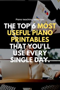 These 6 piano printables will get a daily work-out in your studio! Grab your own for free (no sign-up required!) at this link and get ready to be more effective, more efficient and more fun! Music Education, Music Teachers, Health Education, Physical Education, Music Classroom, Piano Practice Chart, Elementary Music, Elementary Schools, Piano Lessons For Kids