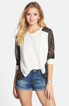 Elodie Chiffon Back Sweatshirt (Juniors) available at #Nordstrom