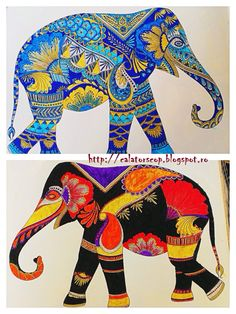 Animal Kingdom Coloring Books New Calatorscop Travels Shelf Millie Marotta S Animal Elephant Colour, Elephant Pattern, Elephant Love, Indian Elephant Art, Animal Coloring Pages, Coloring Book Pages, Animal Kingdom, Elefante Hindu, Drawings