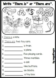 Toys Online, Learn English, Worksheets, Exercises, Playing Cards, Language, Writing, Education, Learning