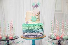 Cake from a Turquoise & Purple Modern Glam Frozen Birthday Party via Kara's Party Ideas KarasPartyIdeas.com (14)