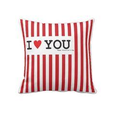 I Love you Throw Pillows