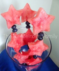 Fruit Sparklers - healthy and great for summer! via thenymelrosefamily.com #summer #fruit #healthyfoods