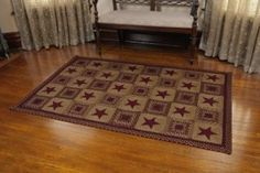 Country Star Wine Braided Area Rugs are durable, earth friendly and hand crafted. jute braided area rugs with braided bands rich in color and made of the finest jute fibers. Braided rugs bring an instant dose of warmth, color and style to any room. Decor, Primitive Rugs, Braided Rugs, Country Decor, Braided Area Rugs, Primitive Decorating Country, Country Primitive, Country House Decor, Country Rugs