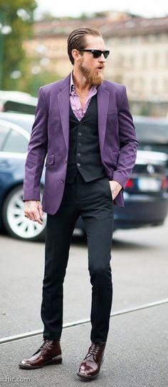 outfit colour combination- purple