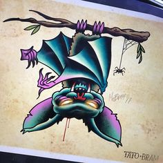 Today's theme for #mabsdrawlloweenclub is #vampirebat. This one is my favorite so far. What do you think?  - Looking for an artist to turn your idea in to a kickass tattoo? Let's talk. Get in touch a jesper@bram.tattoo or direct message. #bramtattoo #jesperbram #tatovering #tatovør #tatoveringer #dansktatovørlaug #copenhagentattoo