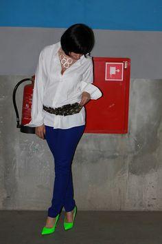 men's shirt Próchnik, trousers H, belt Junky Styling, necklace Bijou Brigitte, shoes DeeZee