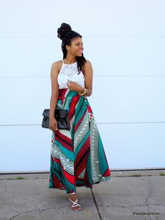 African style 337207090823391280 - African Print Maxi Skirt Source by StyleOptimist African Inspired Fashion, African Print Fashion, Fashion Prints, African Prints, African Attire, African Wear, African Dress, African Style, African Women