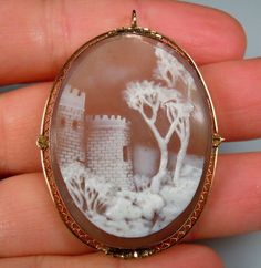 castle and trees cameo