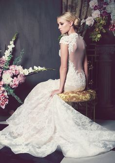 Such a stunning wedding dress from Kobus Dippenaar's romantic Anna Georgina wedding dress collection 2014