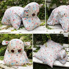 Nilpferdkissen Nähanleitung - HANDMADE Kultur cut and instructions Hippo sewing pillows Always aspired to learn how to knit, nonetheless undecided where to begin? Baby Knitting Patterns, Sewing Patterns Free, Free Sewing, Free Pattern, Sewing Tutorials, Sewing Toys, Baby Sewing, Sewing Crafts, Sewing Projects For Kids