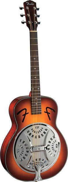 Guitare folk Fender Dobro Resonator Sunburst FR-50