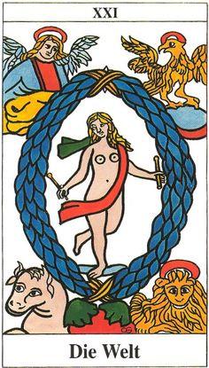 XXI. The World: Tarot de Marseille