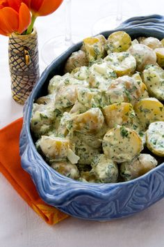 This creamy horseradish potato salad is goes with Ham for Easter, and can be made ahead.