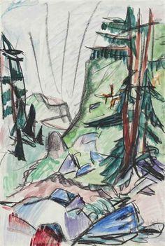 Ernst Ludwig Kirchner, Berglandschaft, c.1924