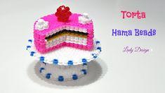 Torta 3D con Pyssla / Hama Beads/ Perler Beads Cake 3D Tutorial