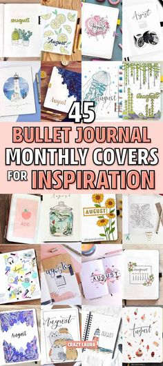 45 Best August Monthly Cover Ideas For Summer Bujos Adding a new month in your bullet journal and need some cover page ideas? Check out these 45 examples for August! Bullet Journal Month Cover, Bullet Journal Contents, Bullet Journal Font, Bullet Journal Hacks, Bullet Journal Printables, Bullet Journal Ideas Pages, Bullet Journal Inspiration, Bullet Journals, Neuer Monat